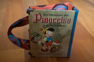 Pinocchio Tasche aus Buch Buchhandtasche