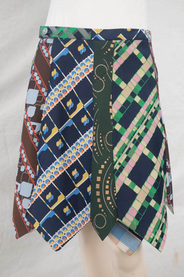 Krawattenrock bunt, gemustert Image