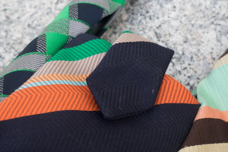 Krawattentäschchen braun/grün/orange Image