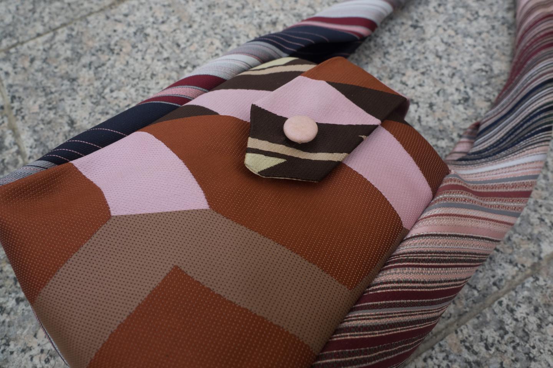 Krawattentäschchen rosa/braun Image