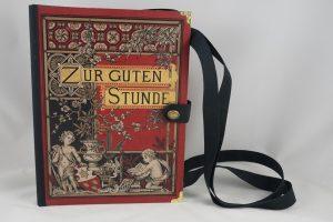 """Sehr edle und auch große Tasche aus dem Buch """"Zur guten Stunde"""" reichlich verziert, auch mit Goldprägungen"""