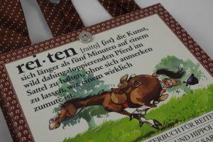 """Lustige Tasche aus dem Buch """"rei-ten"""""""