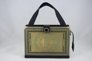"""Sehr edle Tasche aus dem Buch """"Faust"""" von Göthe in Grün"""