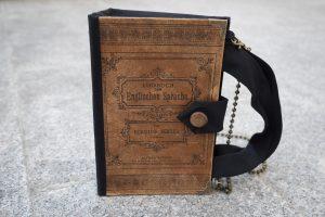 Lehrbuch englische Sprache Tasche aus Buch Buchhandtasche