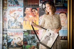 Vintage Tasche Film und Frau