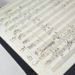 """Tasche aus der Partitur Mozarts """"In diesen heiligen Hallen"""" aus der Zauberflöte"""