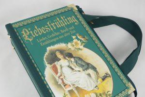 """Tasche aus dem Buch """"Liebesfrühling"""" in Türkies"""
