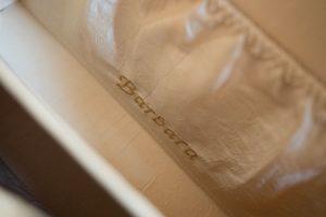 Personalisierung mit Name auf Innentäschchen in einer Bernanderl Tasche
